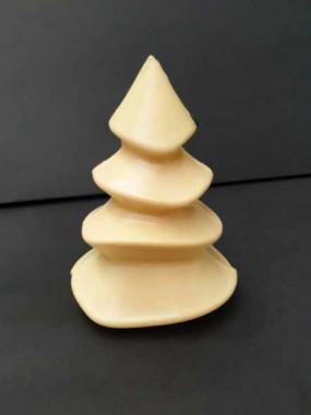 Sapin de Noël en chocolat blanc
